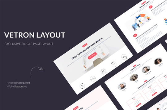 Vetron – Business Divi One Page Layout