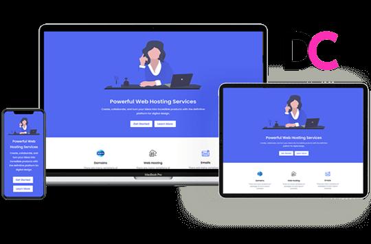 Hazel – Web Hosting Landing Page Divi Theme Layout