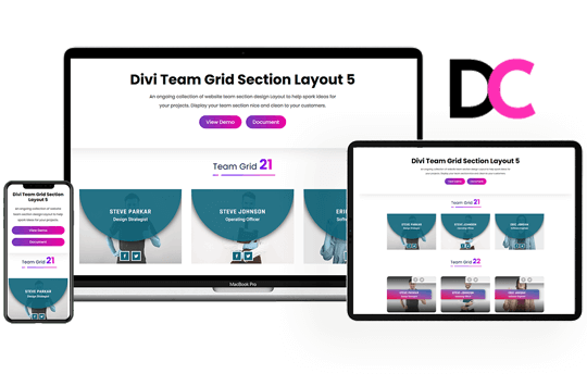 Divi Team Grid Section Layout 5