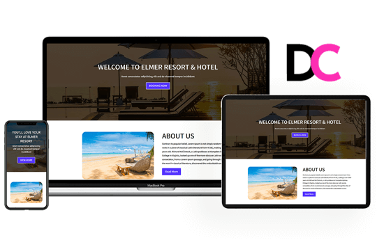 Elmer – Hotel Landing Page Divi Theme Layout
