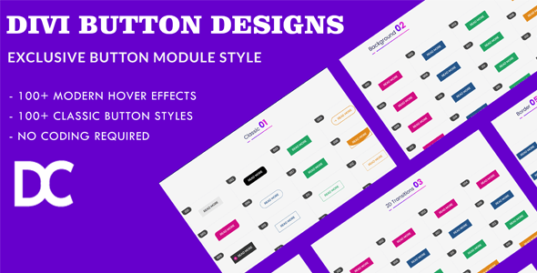 Creative Divi Button Module Designs