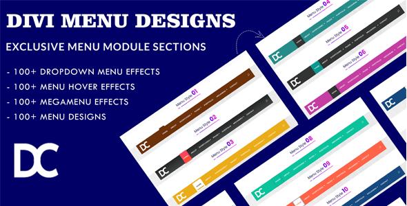 Divi Menu Module Designs Layout Pack 1