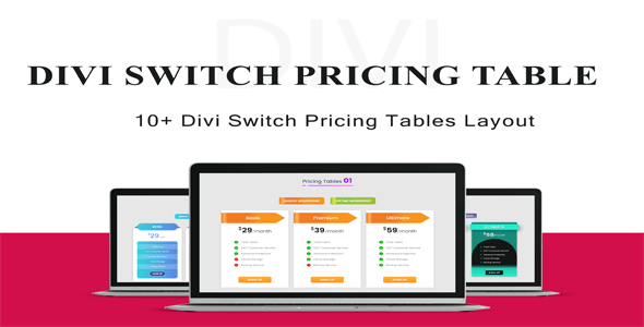 Divi Switch Pricing Tables Layout 1
