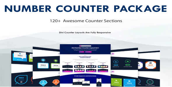 Divi Number Counter Section Package