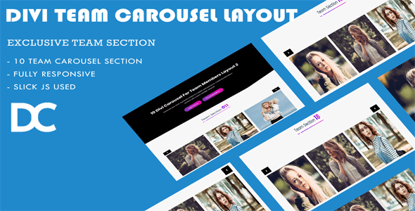Divi Carousel For Team Members Layout 2