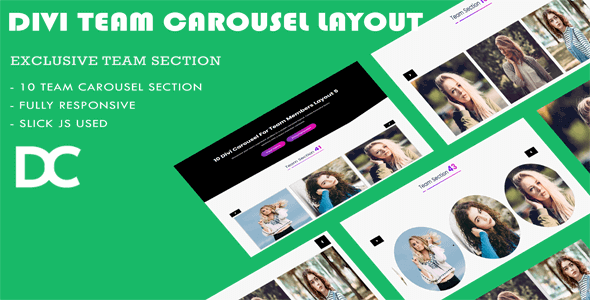 Divi Carousel For Team Members Layout 4