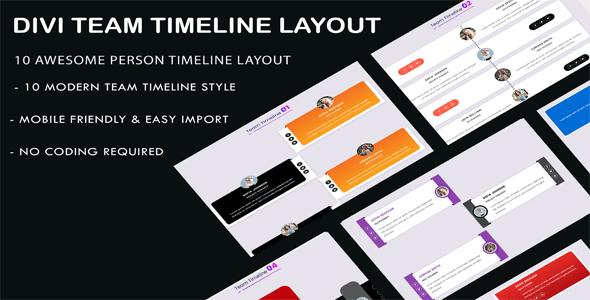 Divi Team Timeline Layouts