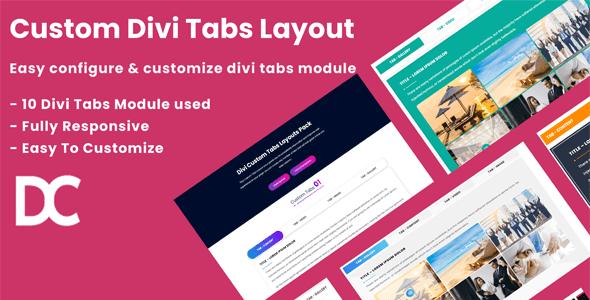 Divi Custom Tabs Layouts Pack