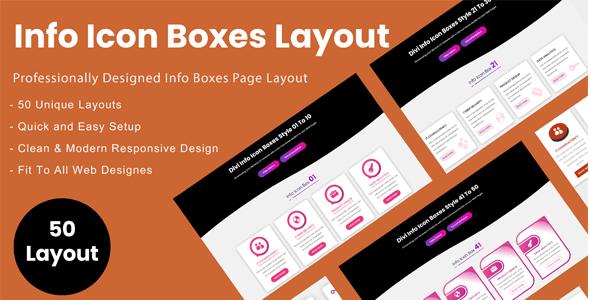 Divi Info Icon Boxes Layout Bundle