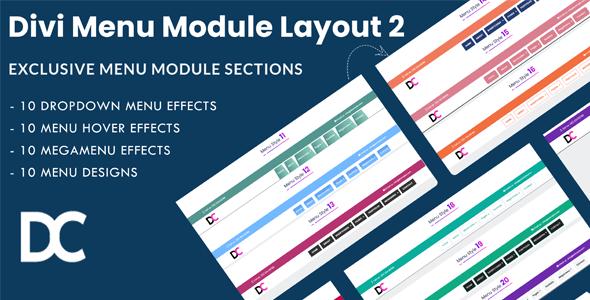 Divi Menu Module Designs Layout Pack 2