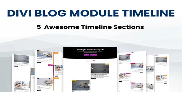 Divi Blog Module Timeline Layouts