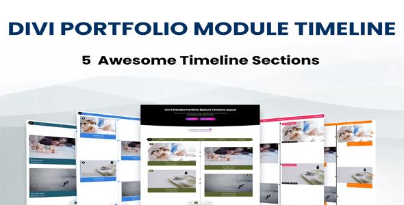 Divi Portfolio Module Timeline Layouts