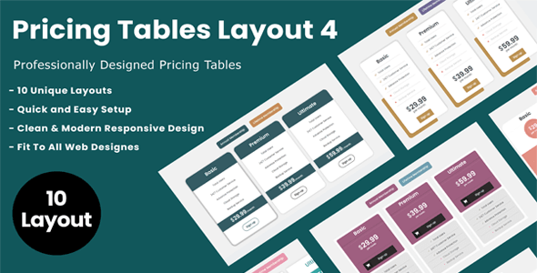 Divi Switch Pricing Tables Layout 4